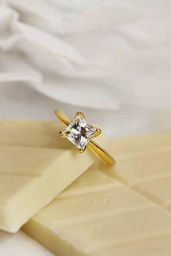ritani engagement rings yellow gold princess cut diamond solitaire simple