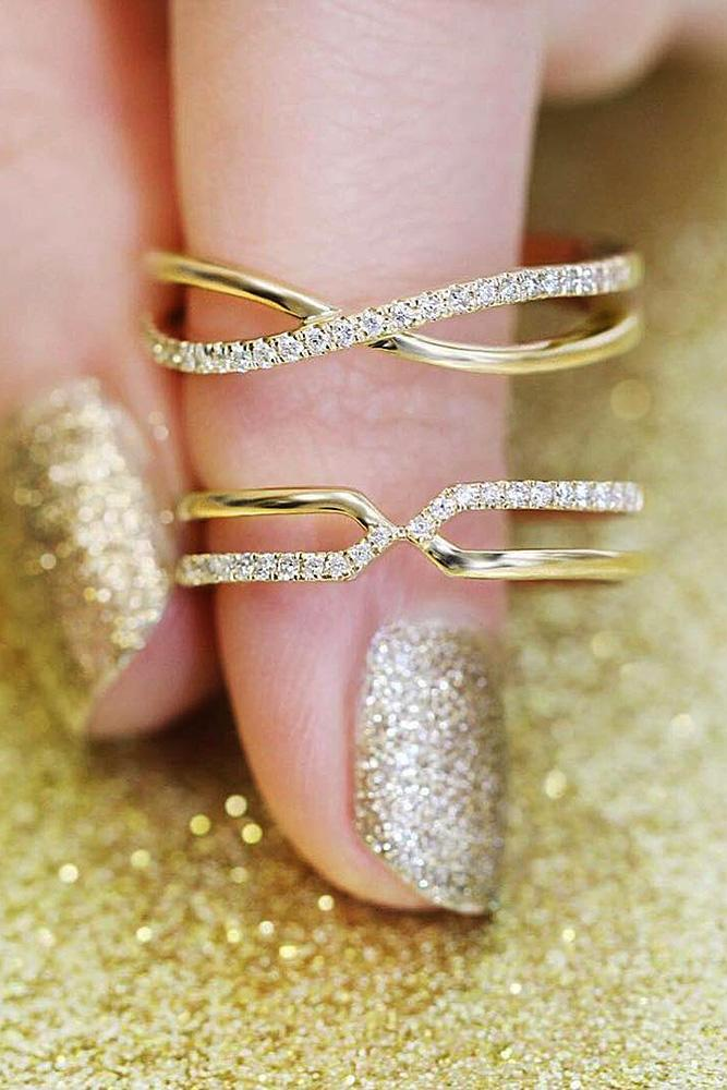 ritani engagement rings yellow gold twist diamonds