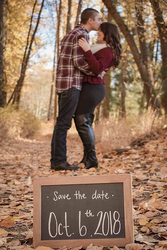 save the date ideas forest nature couple