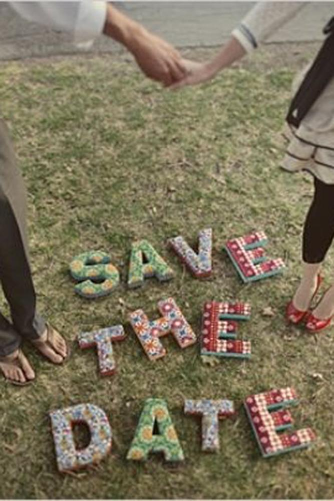 save the date ideas letters couple engaged