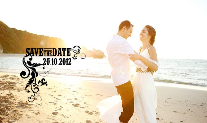 save the date ideas on the beach