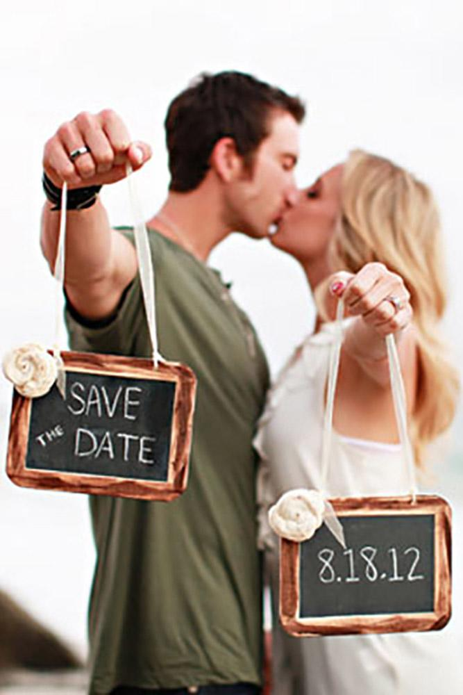 save the date ideas sings in old frames