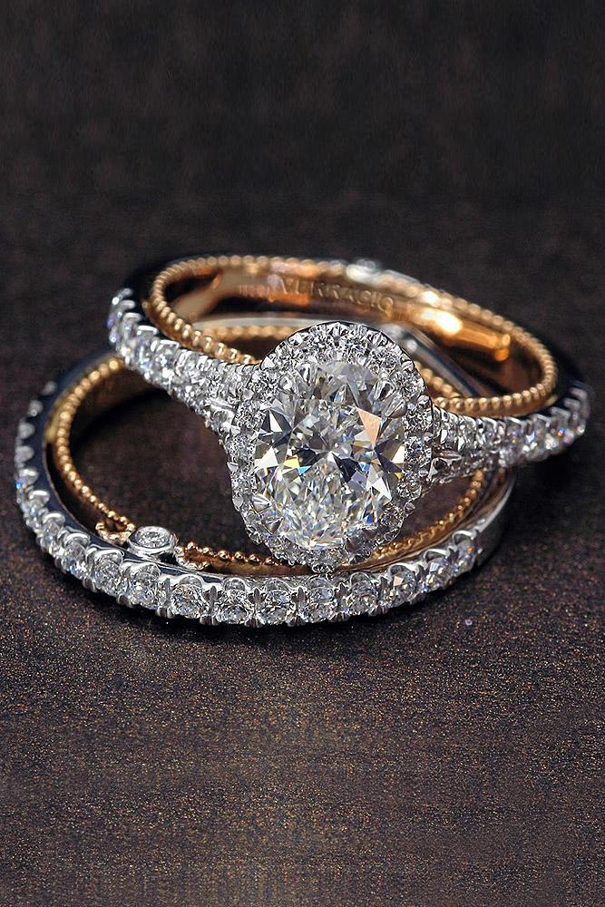 verragio engagement rings halo oval diamond pave band
