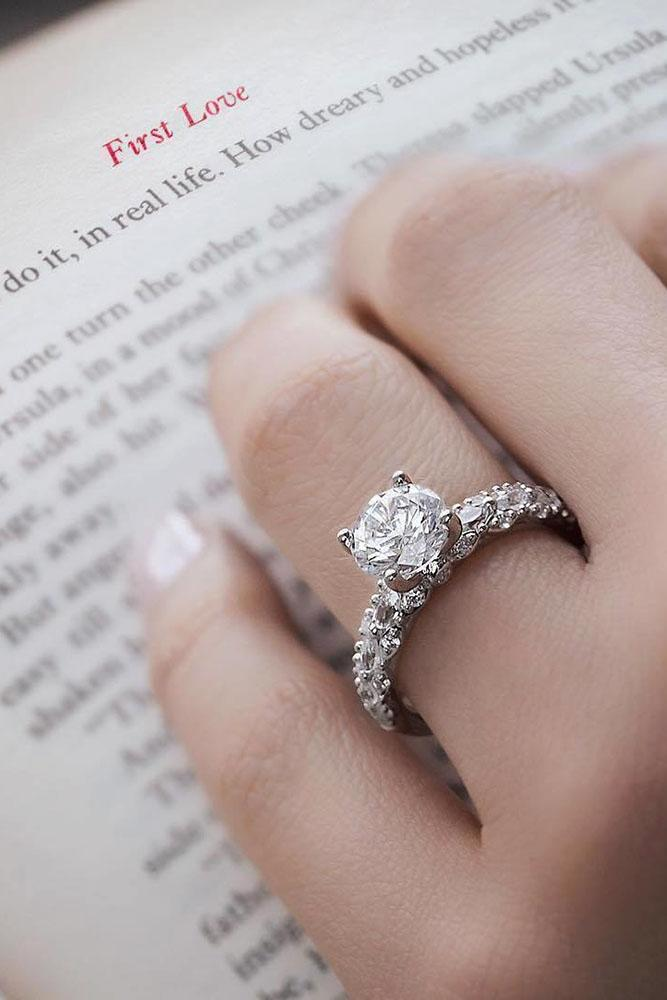 36 White Gold Engagement Rings To Conquer Your Love Oh So Perfect