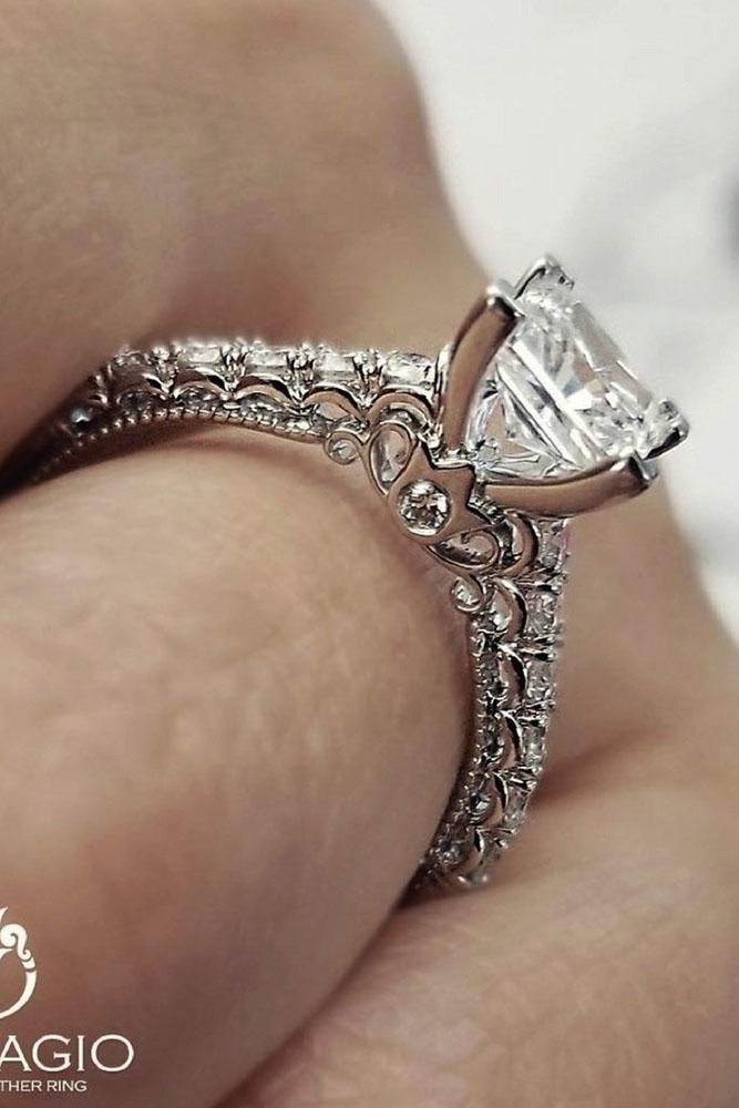 white gold engagement rings unique princess cut