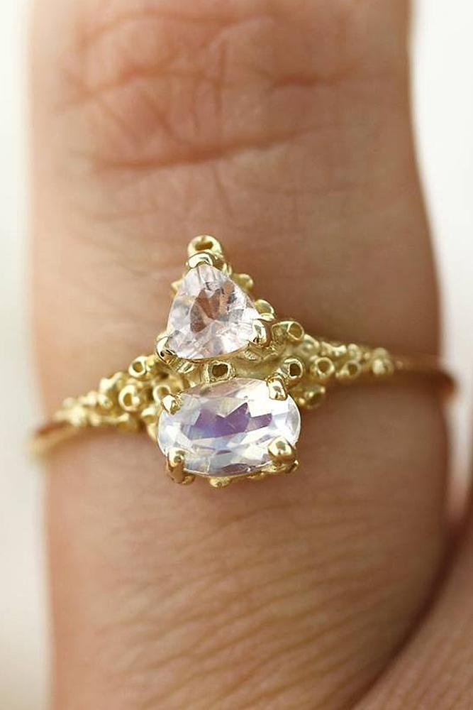 yellow gold engagement rings unique pear cut modern solitaire