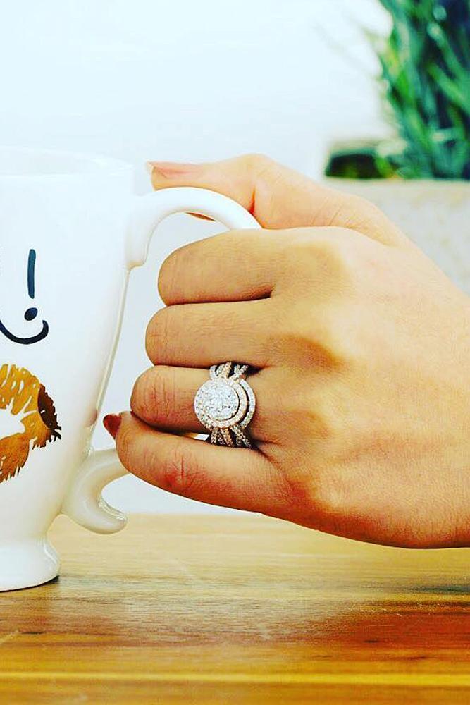 zales engagement rings modern split gold