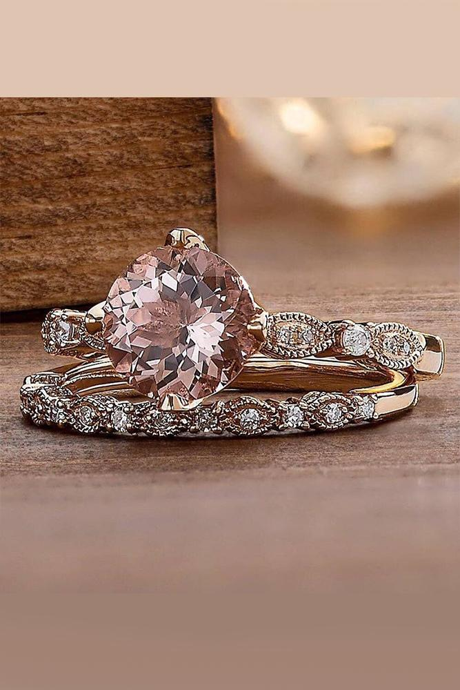 zales engagement rings round cut rose diamond gold