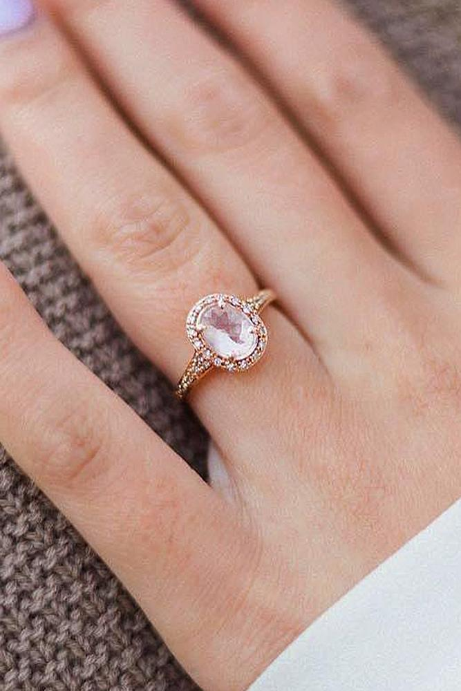 zales engagement rings rose gold halo oval cut