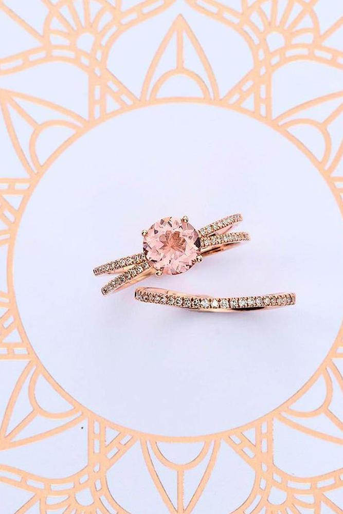 zales engagement rings round cut solitaire diamond rose gold set