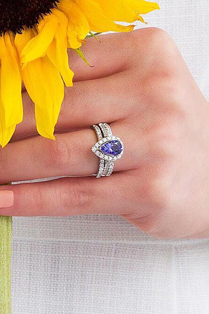 zales engagement rings tanzanite halo pear