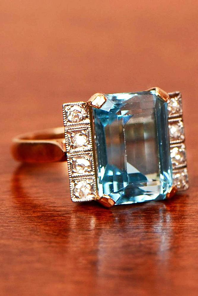30 Aquamarine Engagement Rings For Romantic Girls Oh So