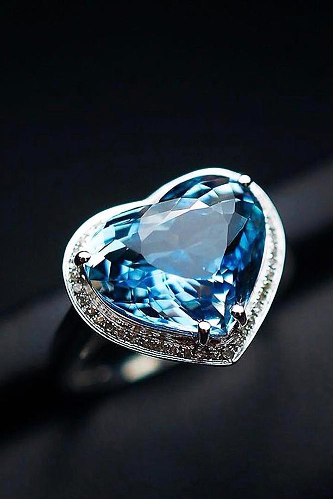 aquamarine engagement rings halo white gold