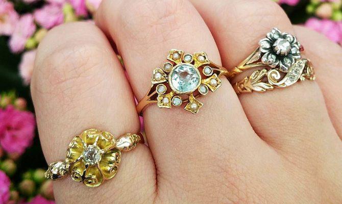 aquamarine engagement rings vintage featured