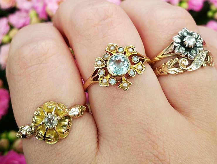 aquamarine engagement rings vintage featured