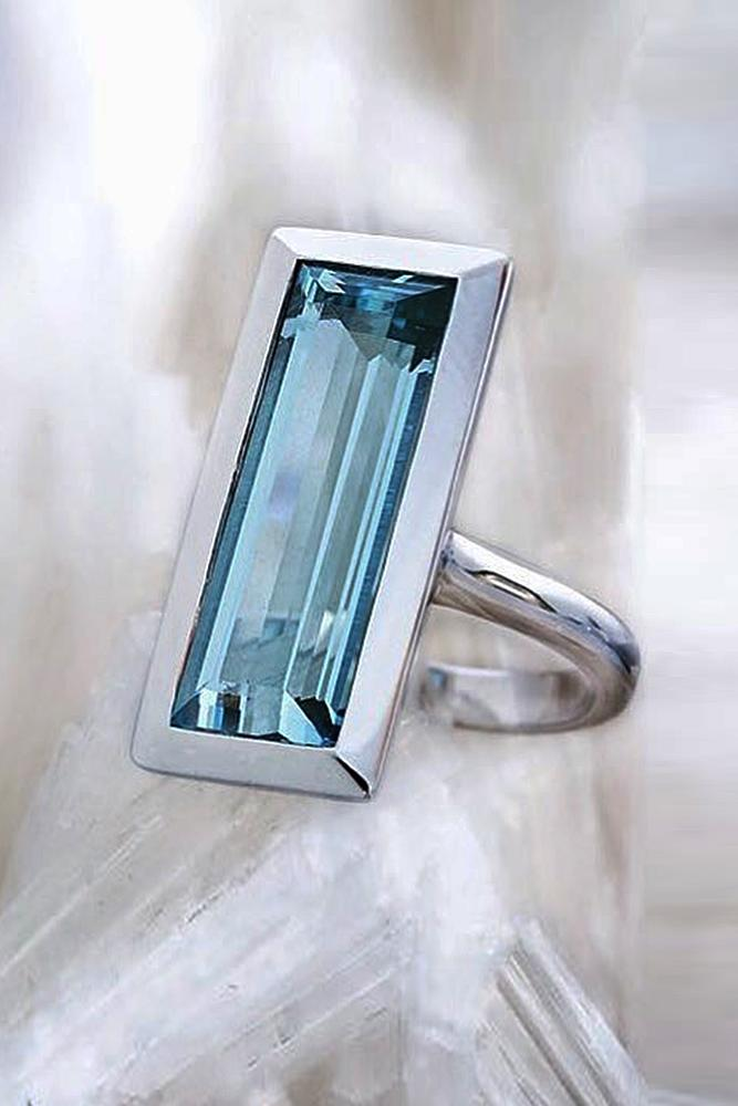 aquamarine engagement rings white gold emerald cut modern