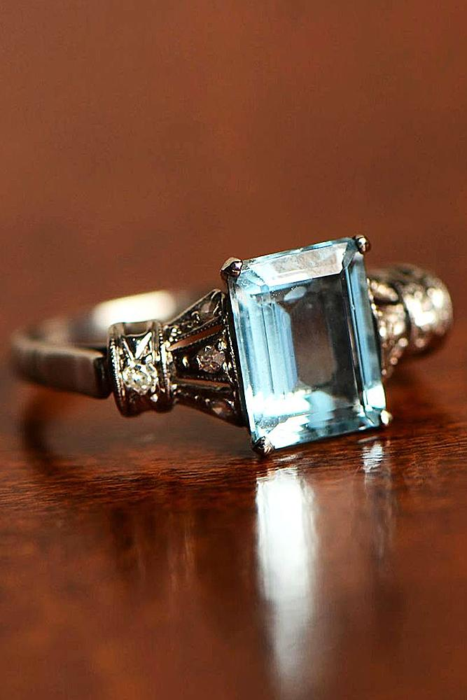 Aquamarine Engagement Rings For Romantic Girls Oh So