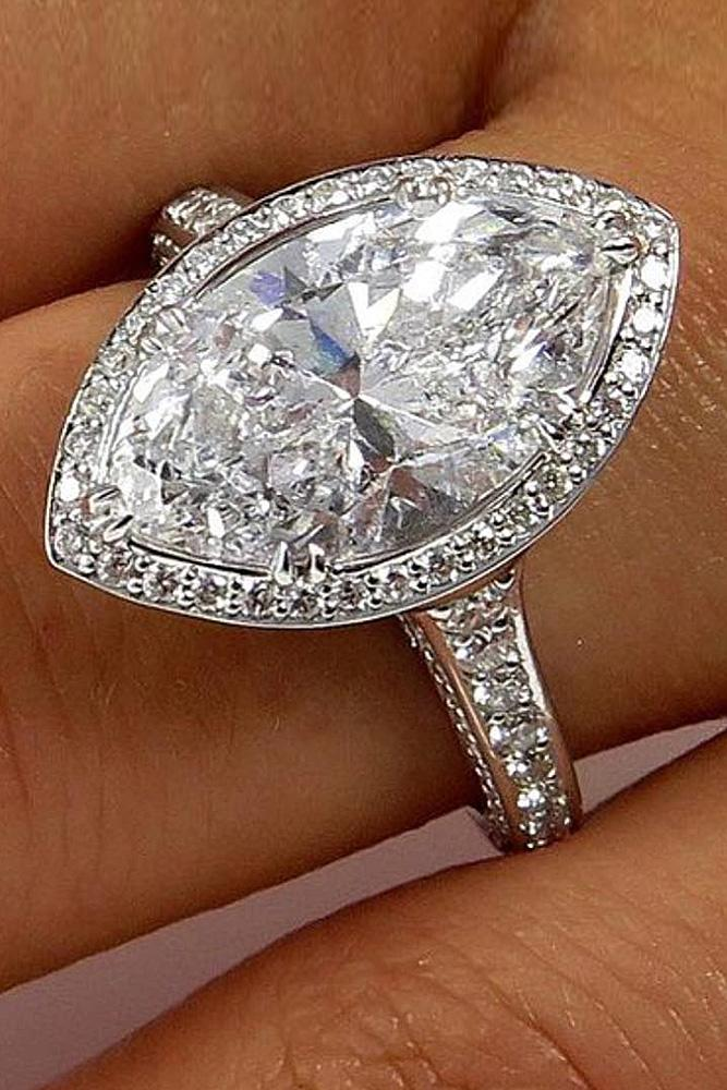 beautiful engagement rings halo diamond pave band marquise