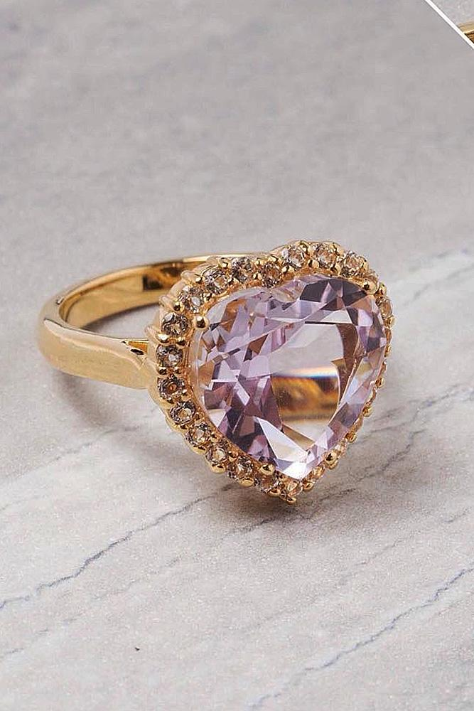 beautiful engagement rings heart cut rose gold gemstone halo