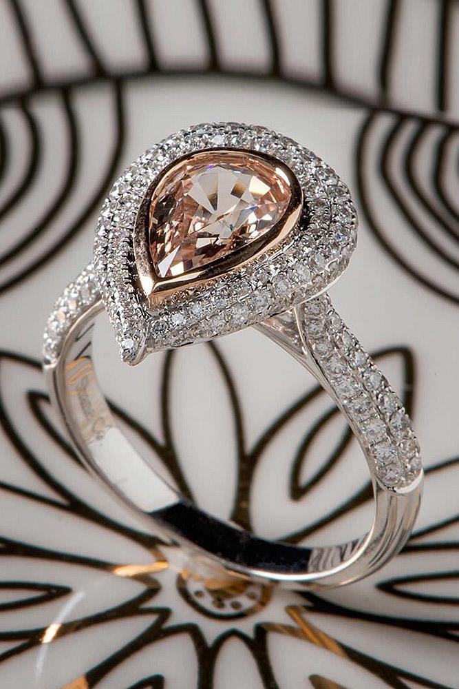 beautiful engagement rings pear double halo