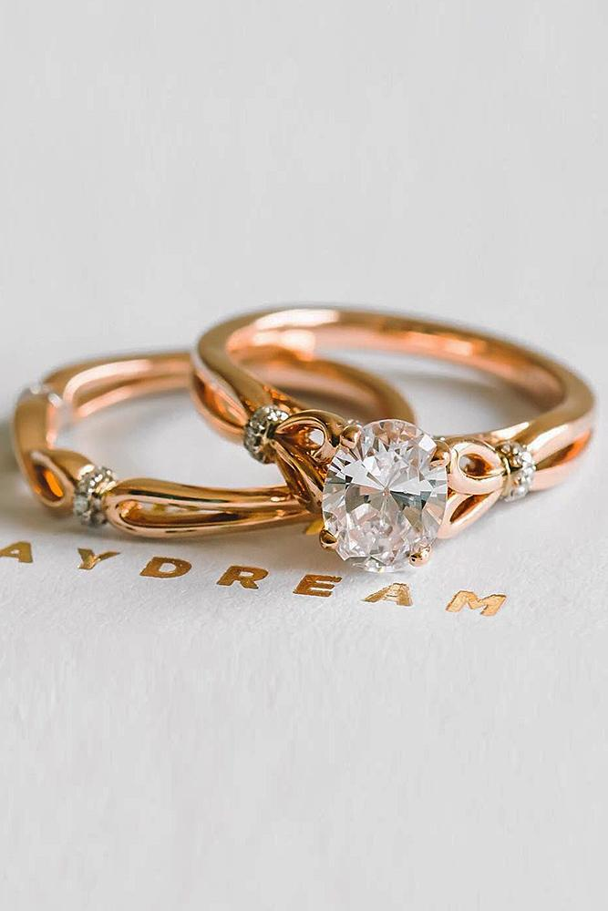 beautiful engagement rings rose gold solitaire oval cut