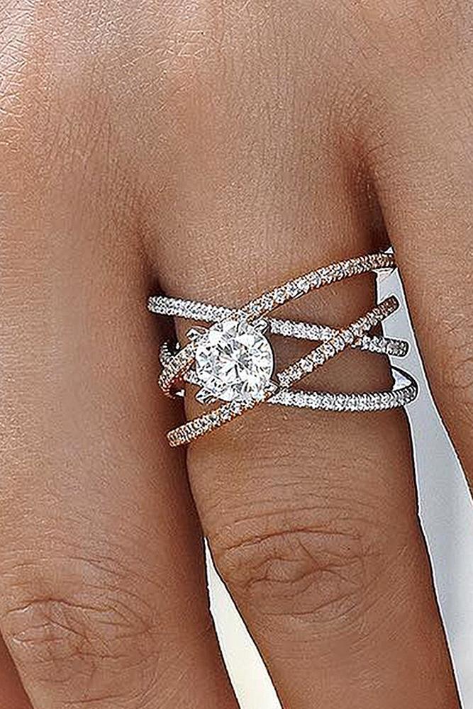 beautiful engagement rings round cut diamond unique