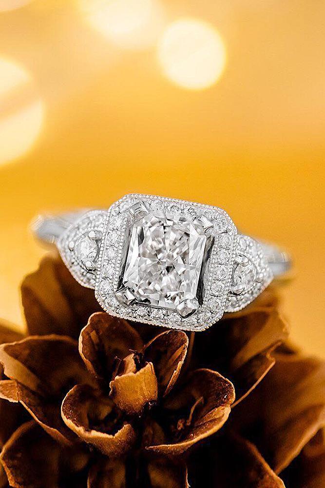 beautiful engagement rings white gold diamond