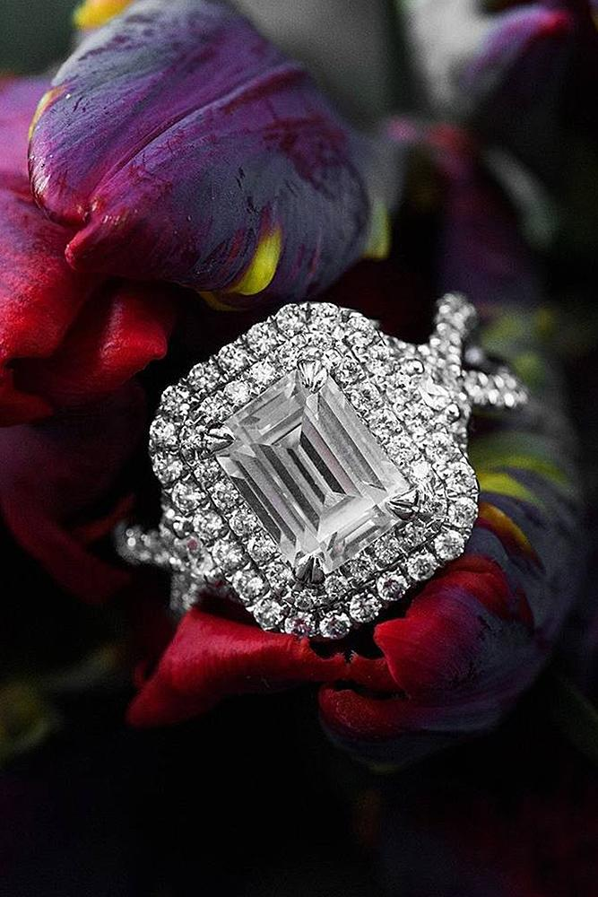 best engagement rings diamond emerald cut double cut