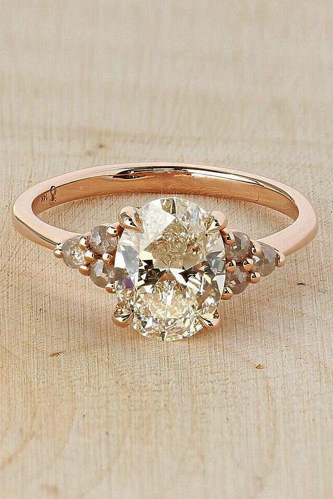 best engagement rings rose gold solitaire oval cut