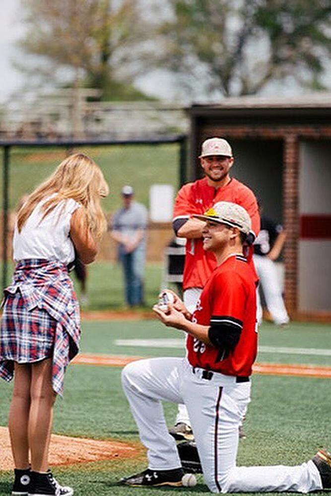 best proposal ideas couple at the sport game