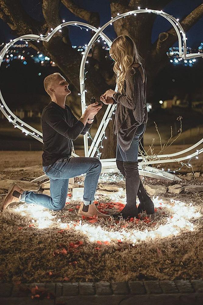 best proposal ideas couple lights candles romantic