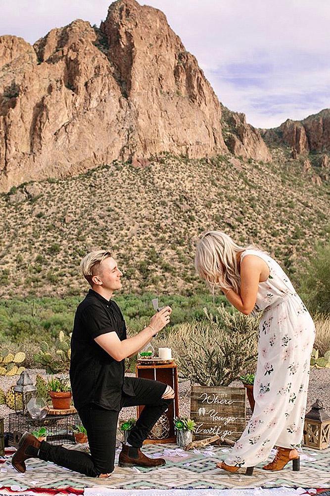 best proposal ideas man propose a woman mountains