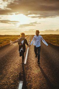 engagement photos man and woman sunset fantastic backdrops