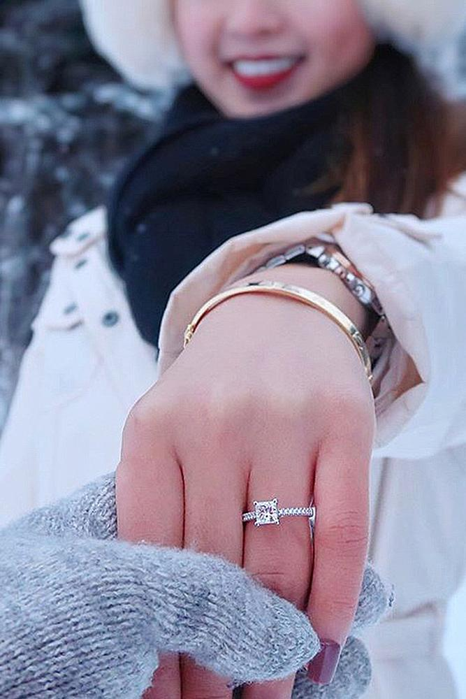 engagement pictures engagement ring hand smile
