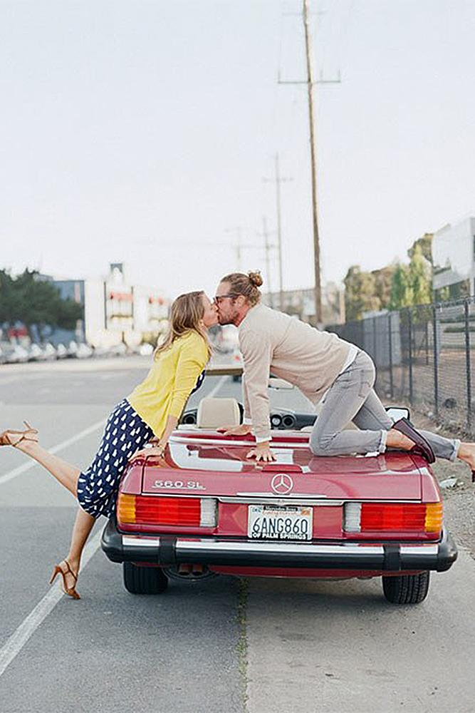 engagement pictures funny ideas with your car