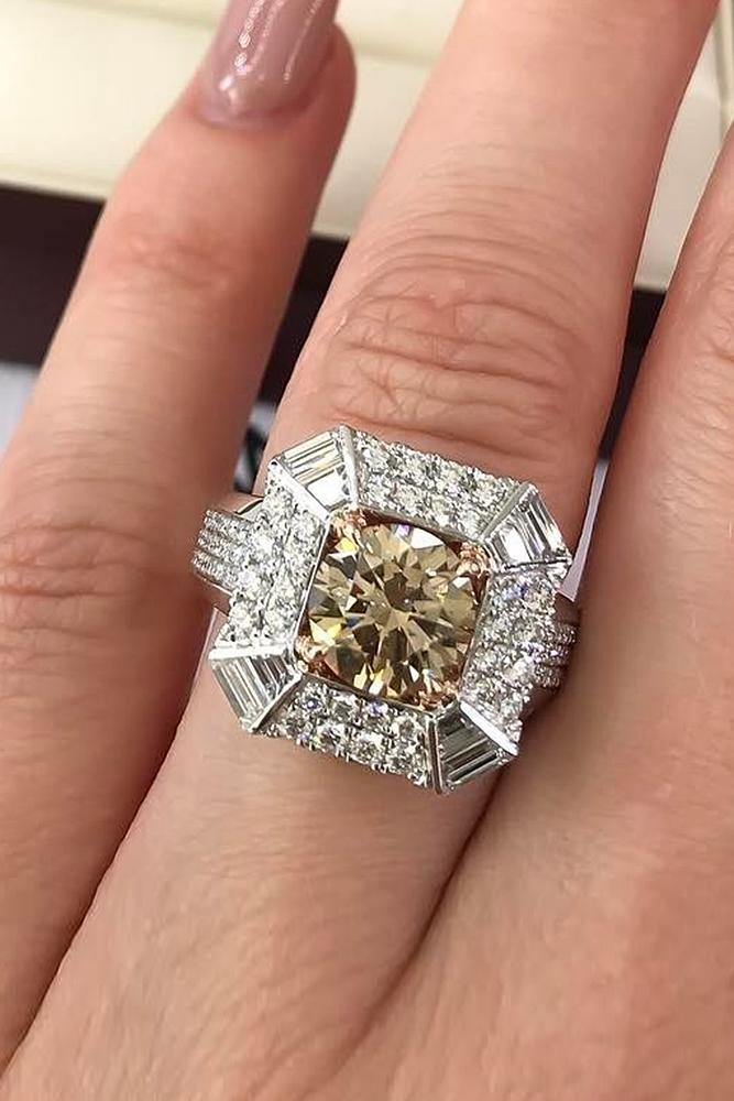 engagement rings styles unique halo round cut