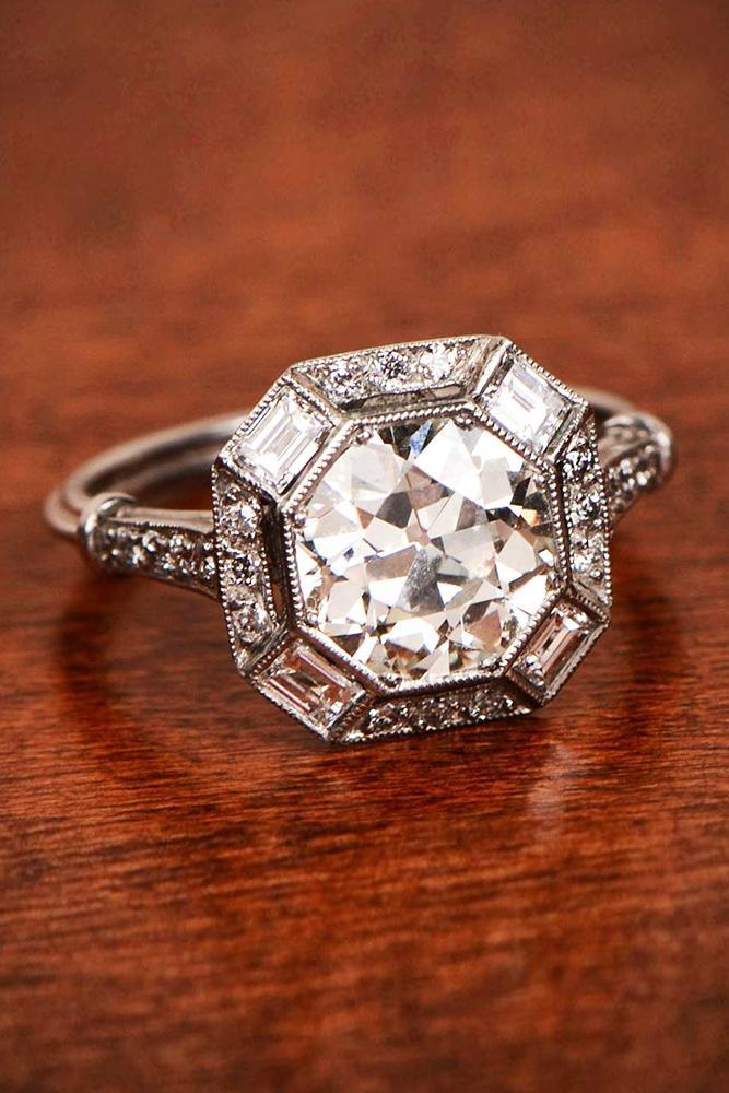 modern engagement rings diamond white gold