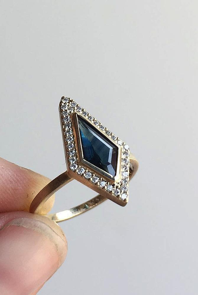 modern engagement rings halo sapphire yellow gold unique