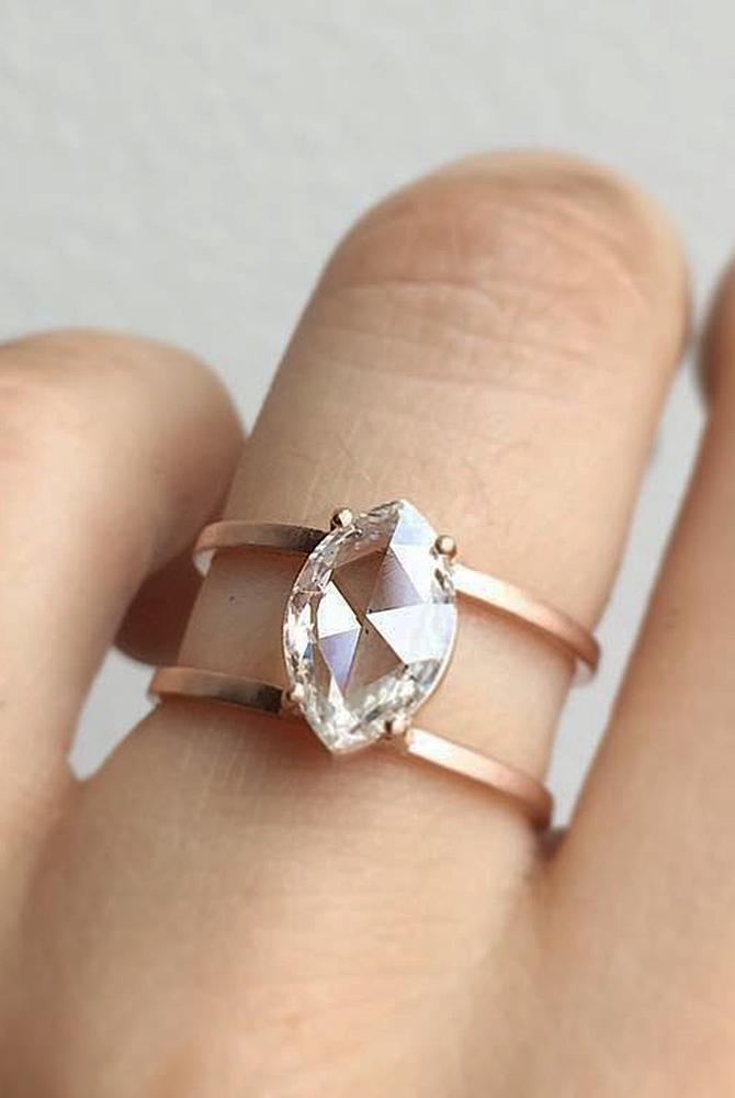 modern engagement rings rose gold unique morganite
