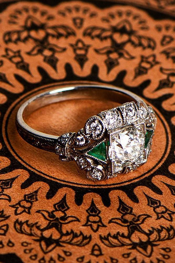 modern engagement rings round diamond white gold unique halo