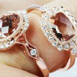 morganite engagement rings halo rose gold