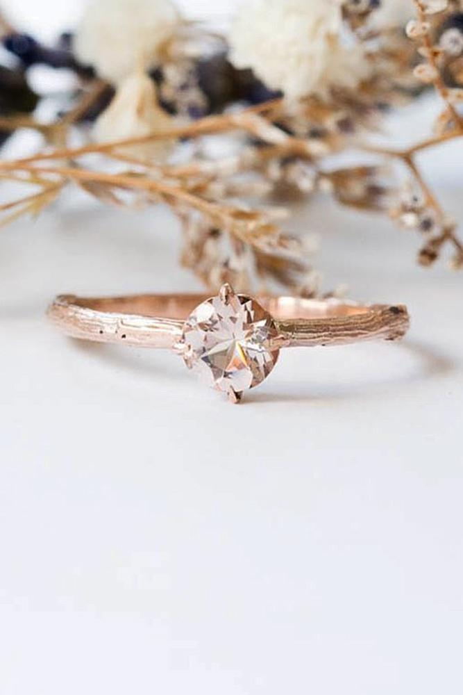 morganite engagement rings solitaire rose gold round