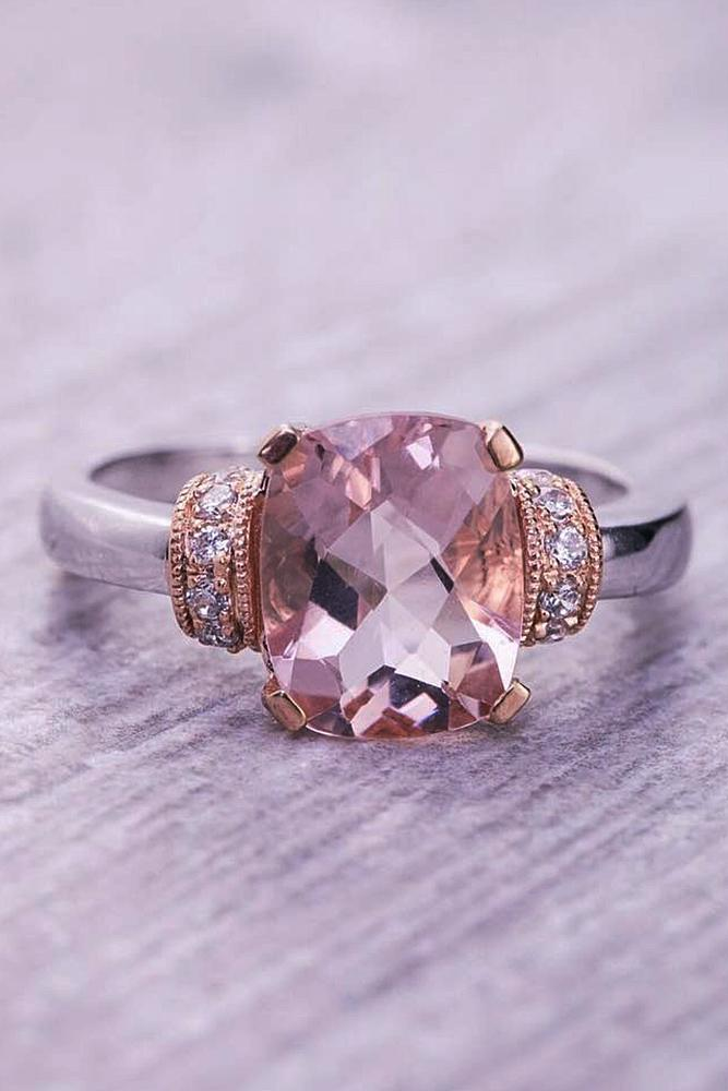 morganite engagement rings white gold unique