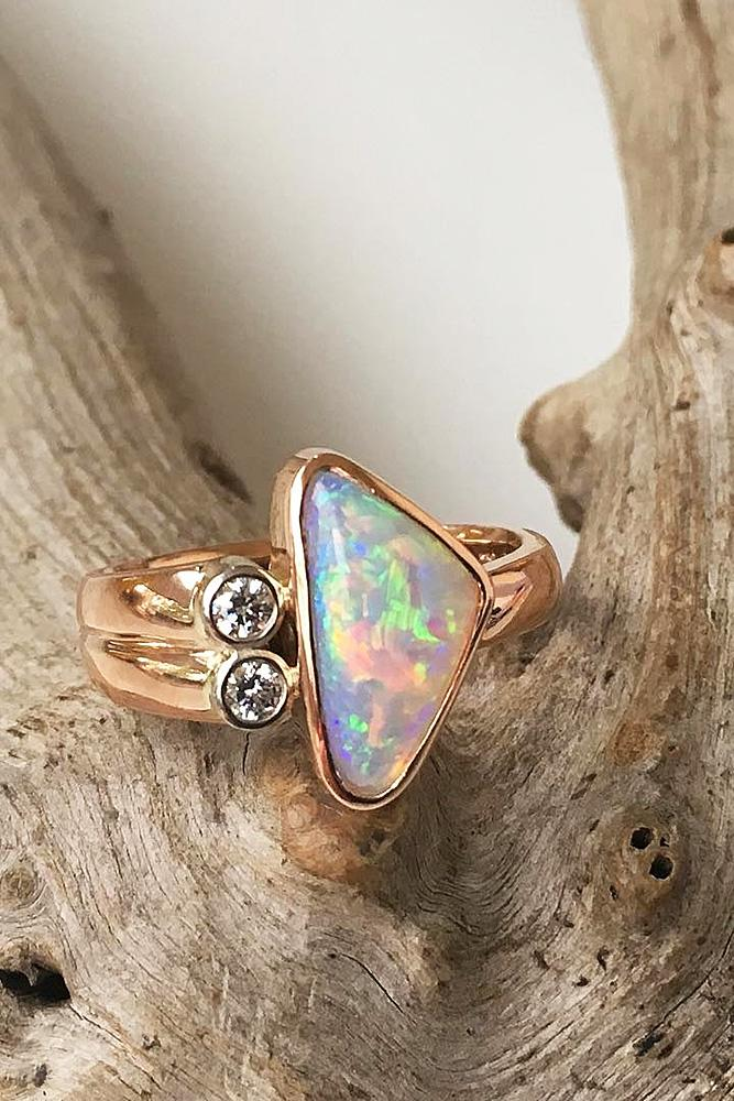 Unique Simple Engagement Rings 24 Opal Engagement Rin...