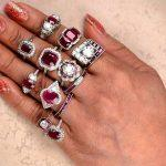 ruby engagement rings white golds