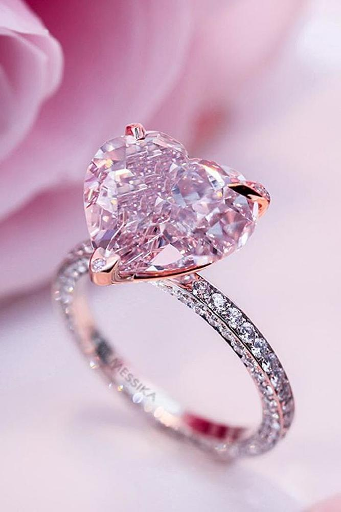 simple engagement rings rose gold solitaire heart cut diamond amazing