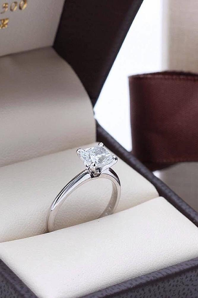 simple engagement rings solitaire diamond white gold