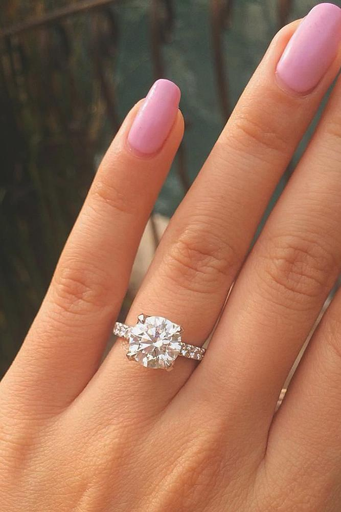42 simple engagement rings for girls who love classic oh