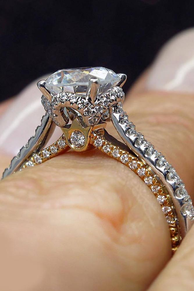 verragio engagement rings cathedral brilliant gold platinum