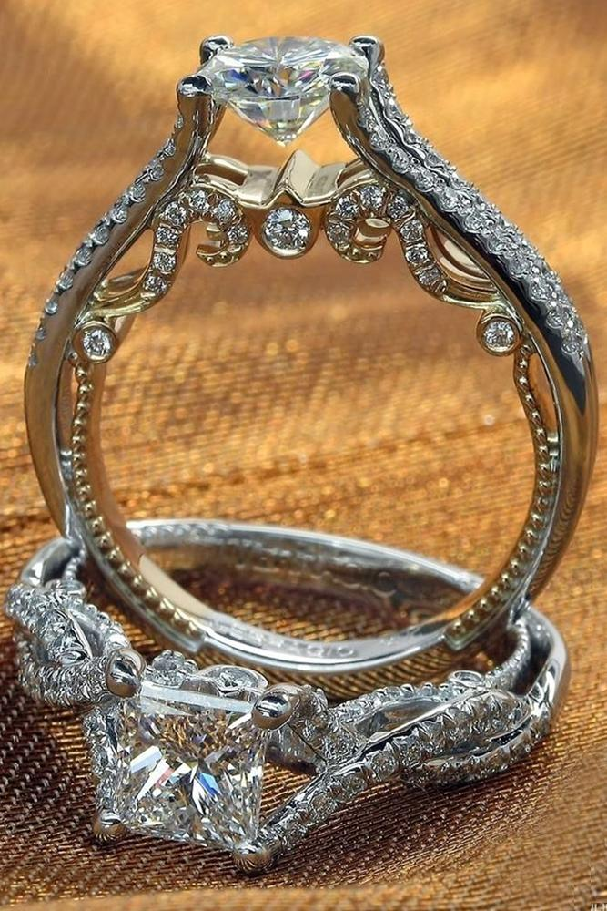 verragio engagement rings cathedral ring white gold roundcut diamond